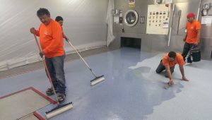 Pharmaceutical Epoxy Floor Coating Installation