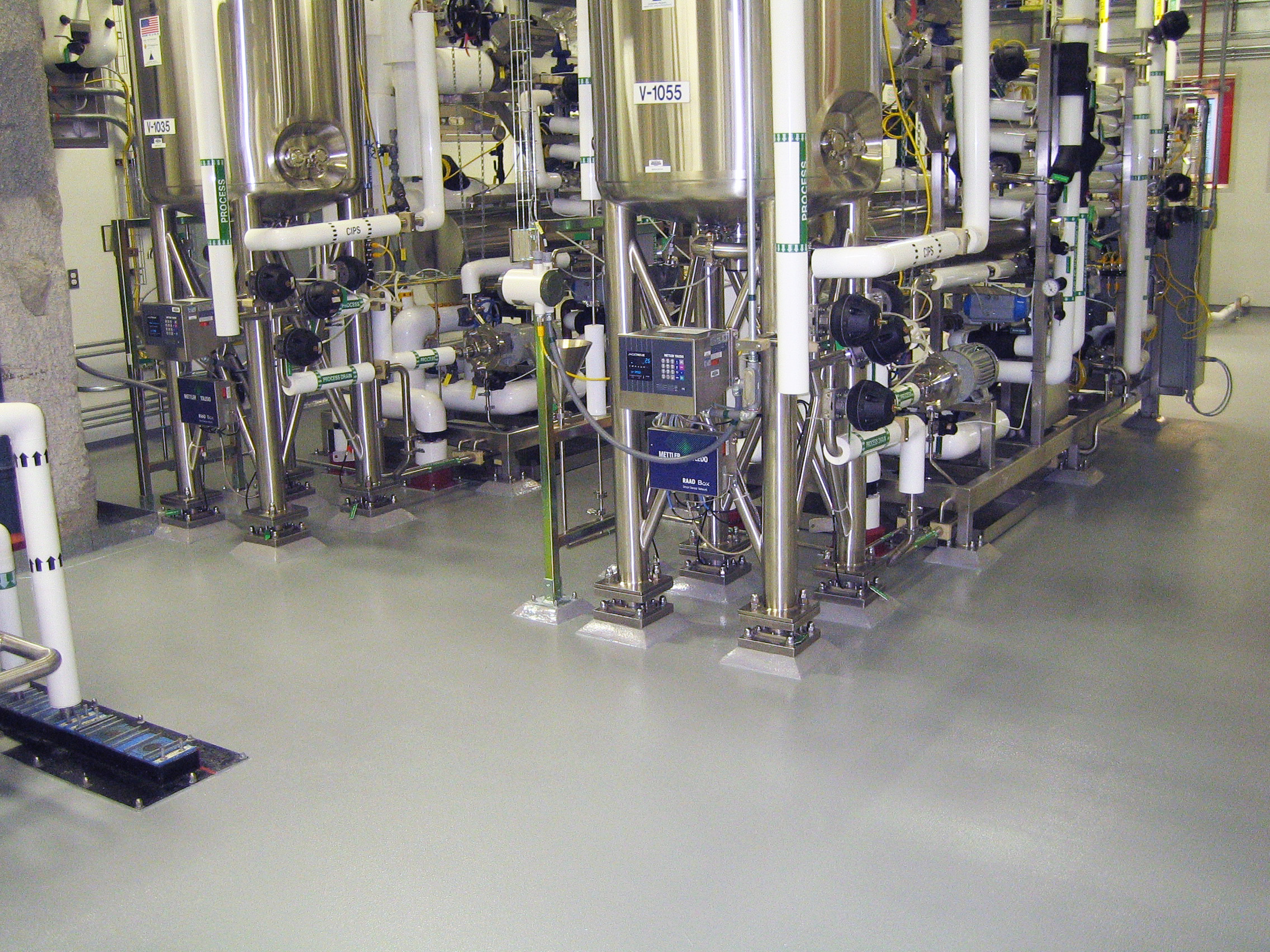 Pharmaceutical Seamless flooring epoxy urethane resinous