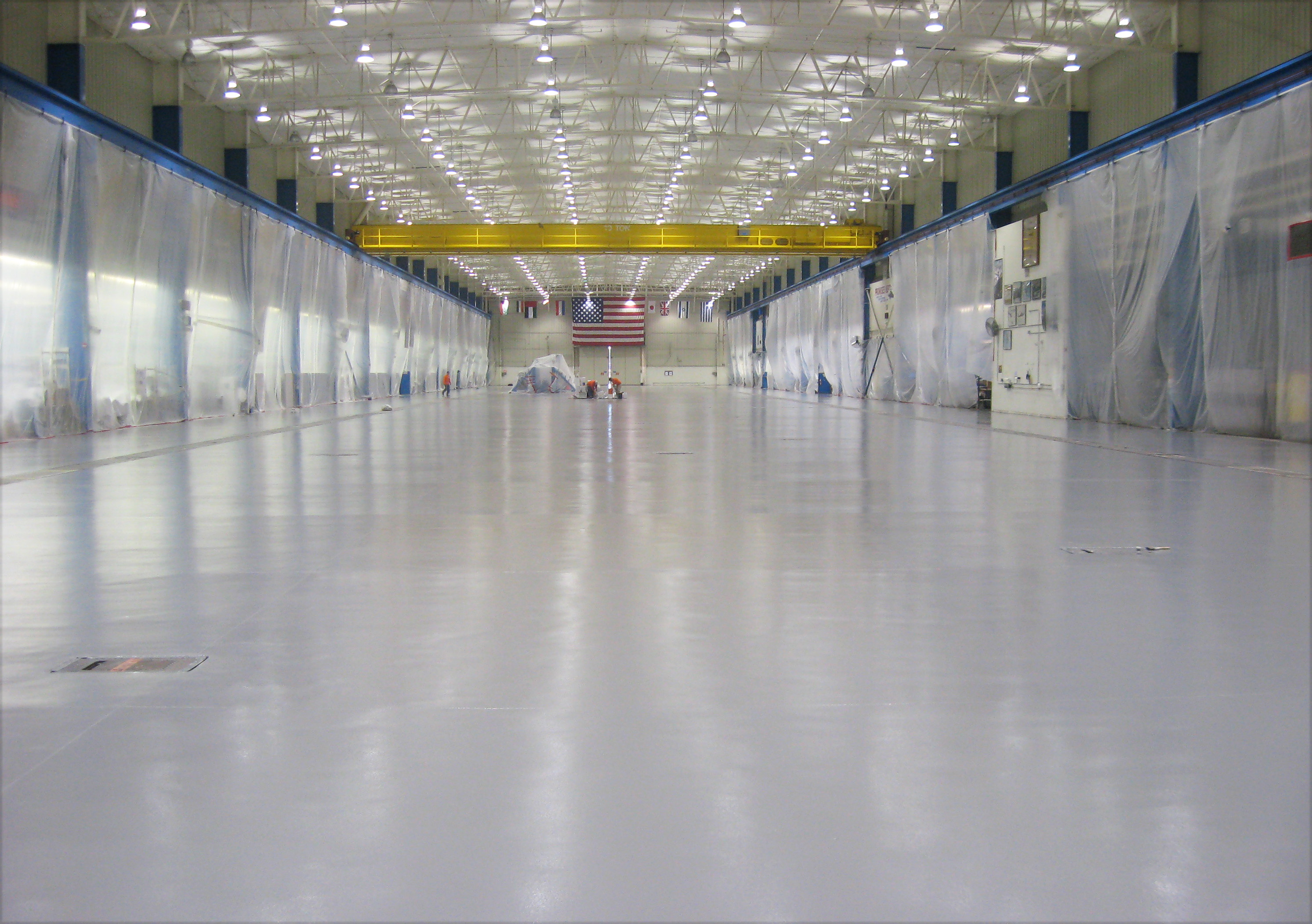 Aerospace flooring durable epoxy seamless clean